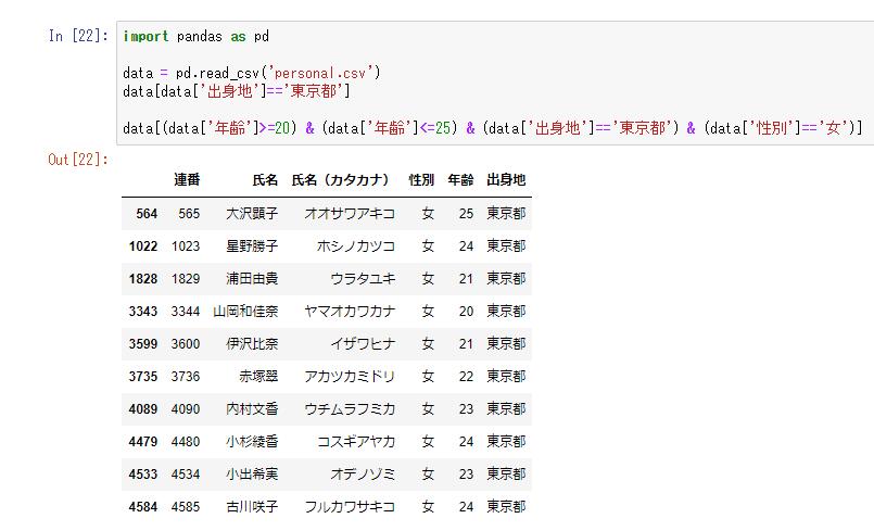 Pythonでのテータ抽出